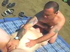 Chubby mature seduces man outdoor
