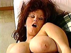 Horny busty BBW screwed in foursome