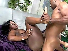 Cute black plumper gets creampie