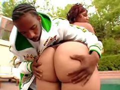 Booty ebony BBW spoils black friend