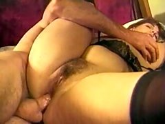 Beefy erect dick penetrates fat ass