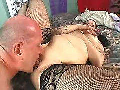 Splendid fatty taking up huge cock