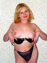 Blonde busty chubby showing tits