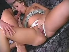 Beautiful pregnant babe sucks cock