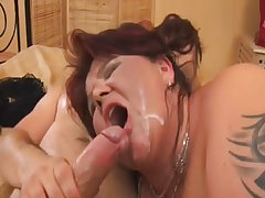 Blazing bbw gets facial