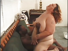 Skinny stud almost crushed under the weight of enormous fatty
